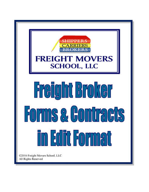 Freight Broker Forms Contracts